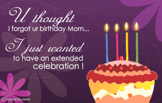 E Birthday Cards For Mom justsingit – Birthday Card for My Mother