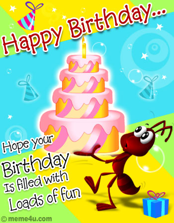 cute birthday cards, cute happy birthday cards, free birthday ecards