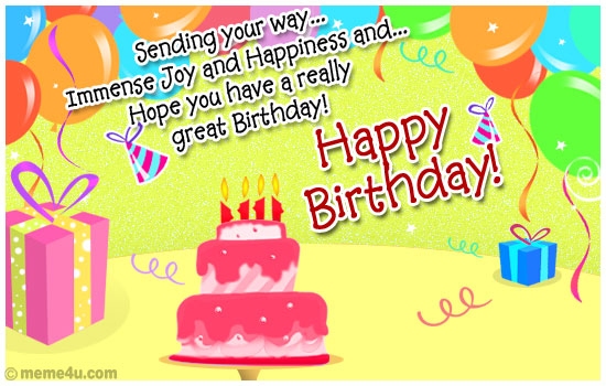 Immense Joy Happy Birthday Happy Birthday Cards Happy Birthday – Happy Birthday Post Cards