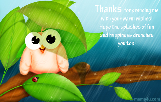 thank you cards, free thank you ecards, april showers thank you