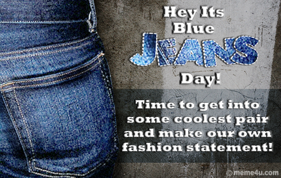 blue jeans day cards, postcards, funny cards