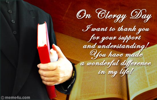 clergy appreciation day cards, clergy appreciation day ecards, clergy appreciation day greetings