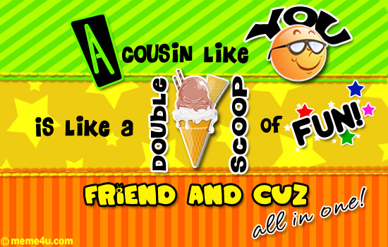 cousin day ecards,trendy cousin day cards,free ecards
