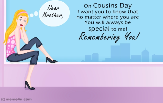 missing you card for cousins,cousin missing you cards,free cards
