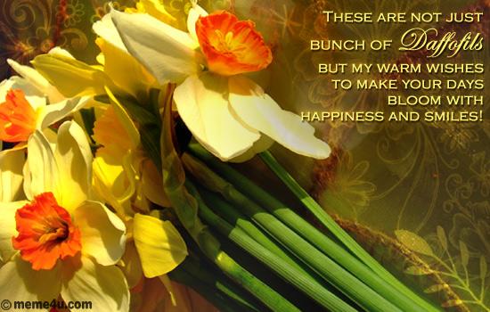 bunch of daffodils,ecards with daffodils,daffodil cards