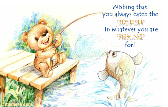 go fishing, big fish, free ecards