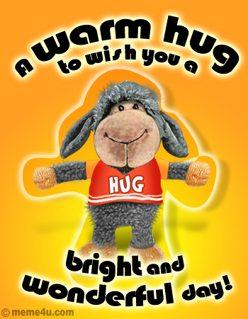 warm hugs, free hugs, animated hug card