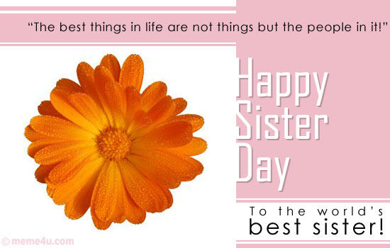 floral sisters day ecards, card for sister, ecards for sister
