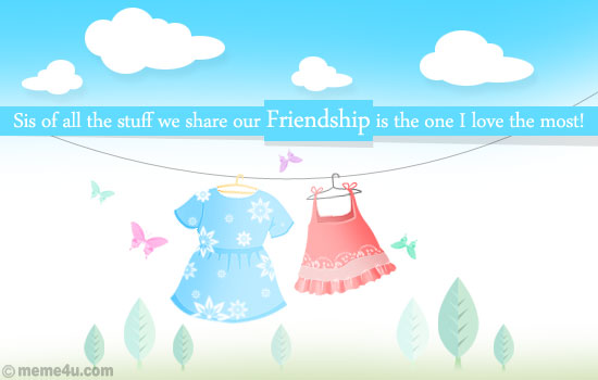 sister friend cards, sister friend ecards, greeting card for sister