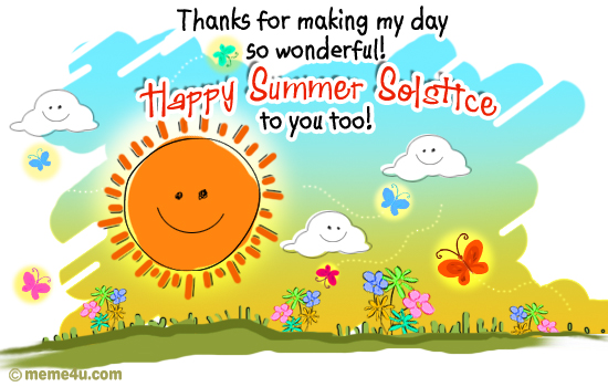 thank you, thank you ecard, summer solstice