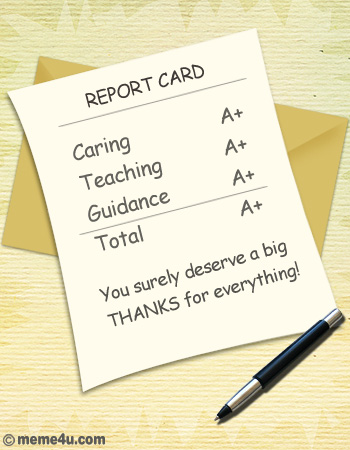 report cards, funny teachers day ecard, teachers day ecards