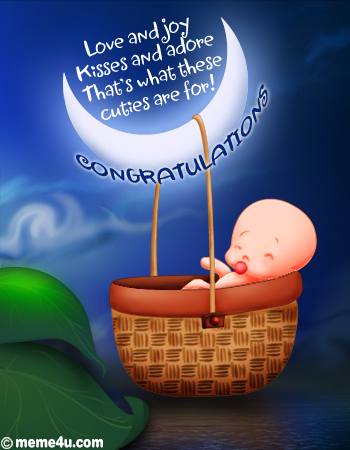 new born babies cards, newborn baby congratulation ecards, new baby congratulation postcard