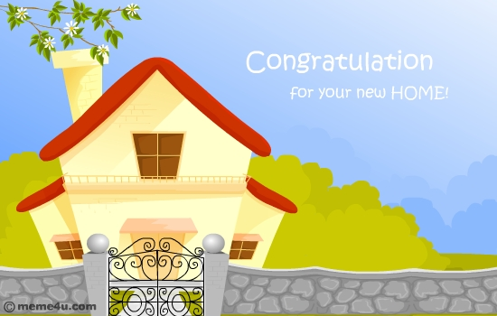 Congrats New House animated new home congratulations ecard | animated new address