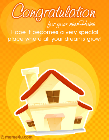 New Home Congratulations New Address Congrats Congratulations
