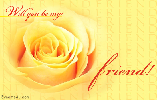 floral friendship proposal card, floral friendship proposal ecard, friendship proposal card with flowers