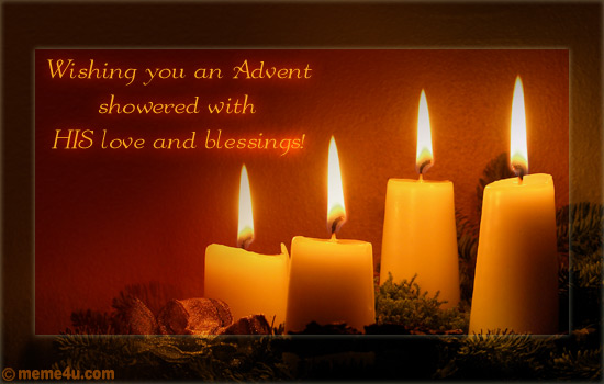 advent wish, advent postcard, advent ecard