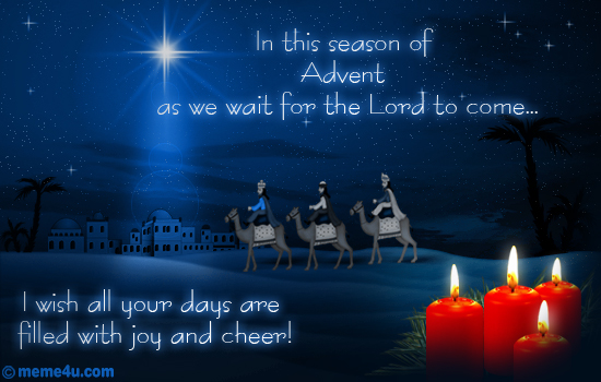 advent prayers, advent cards, advent greetings