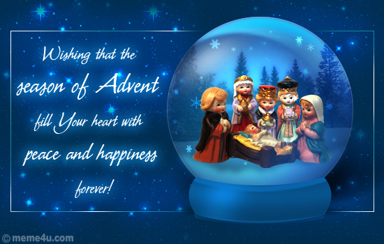 advent ecard, advent wishes, advent wish