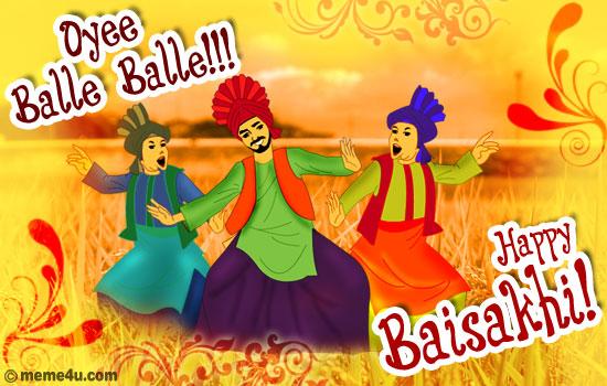 bangra dance,bangra cards,baisakhi card