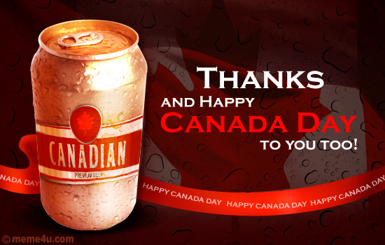 canada day ecards, canada day greeting cards, thank you card