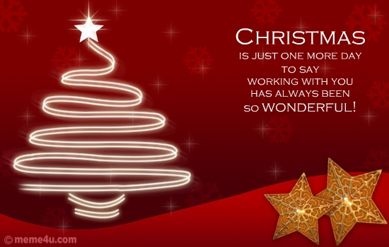 Animated business greeting animated business greeting card free christmas is just one more day to say working with you has always been so wonderful merry christmas a beautiful christmas ecard to wish your business m4hsunfo Image collections