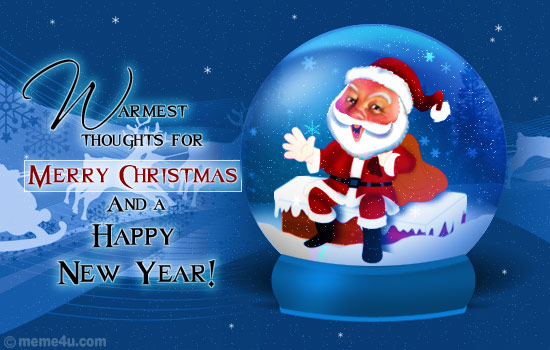 christmas greeting card with santa clause, business christmas card with santa clause, santa clause business greetings