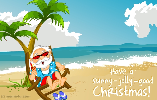 Summer Christmas Cards Lights Card And Decore