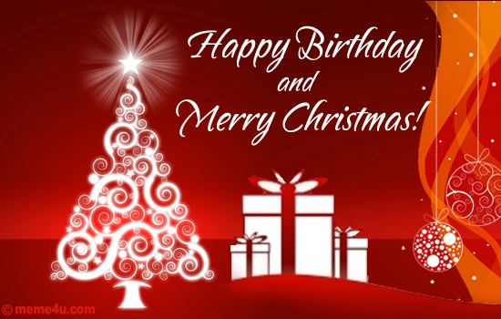 Happy Birthday Greetinng Card | Christmas Wish With Happy Birthday
