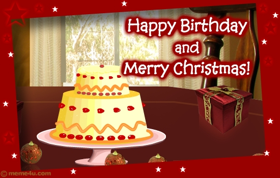 Musical Christmas Birthday Card – Christmas Birthday Card