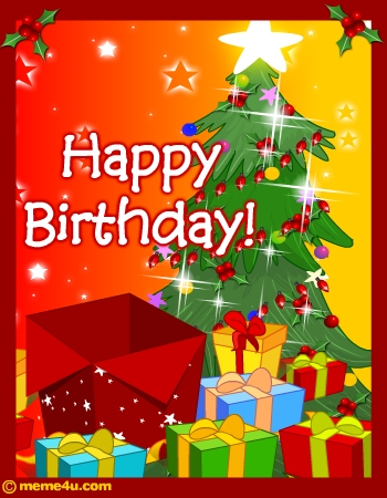 Happy Birthday Christmas Card | Christmas Birthday Free Ecard