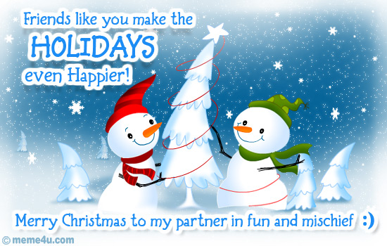 christmas ecard with snowman, christmas friends greeting card, christmas snowman cards