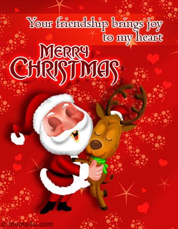 xmas postcard for friend,xmas ecard with santa clause,xmas greeting card with santa clause