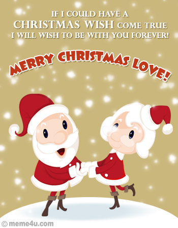 Christmas Wishes on Christmas Card  I Love You Christmas Ecard  I You Christmas Greetings