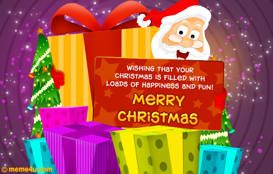 santa clause merry christmas card,santa clause merry christmas ecard,santa clause wishes