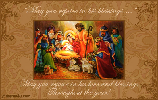 Religious Merry Christmas Card Ecard