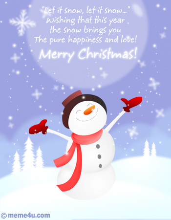 let it snow christmas ecard, let it snow christmas card, let it snow christmas greetings
