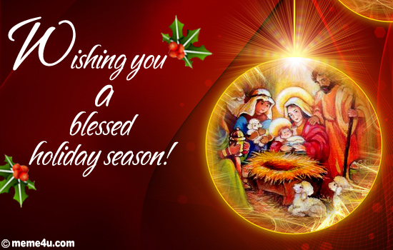 Blessed Holiday Season...Religious Christmas Card, Religious Xmas ...