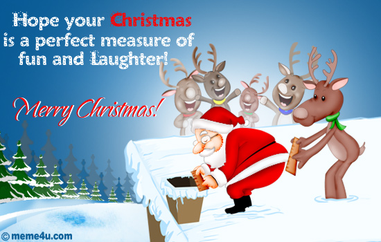 Perfect Measure...Santa Clause Card, Santa Clause Funny Christmas ...