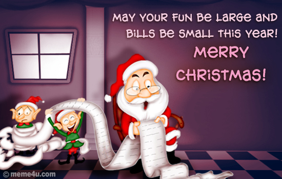santa clause card, greeting, santa clause funny cards