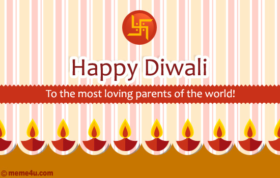 diwali card for parents, diwali ecard for parents, diwali greeting card for parents
