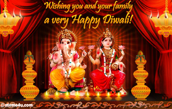 diwali card for family, diwali ecard for family, diwali greeting card for family