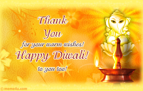 diwali thank you postcard, diwali thank you ecard, diwali thank you greeting cards