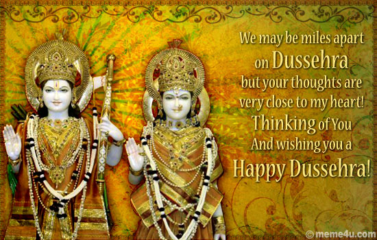 missing you ecard, missing you dussehra card, thinking of you dussehra greeting card