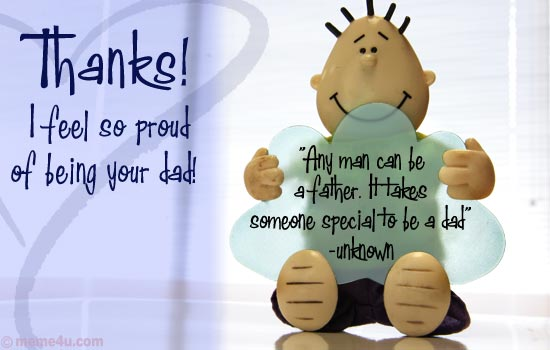 cute thank you ecards, thank you greetings, happy fathers day