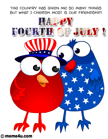 friendship card, friendship ecard, fourth of july friendship cards