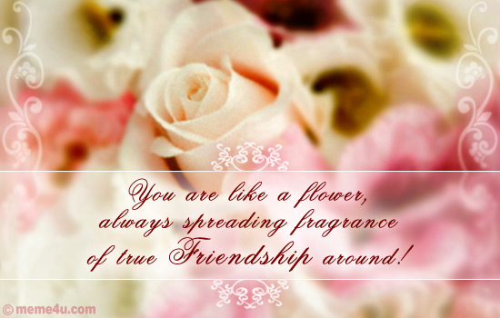 flower e cards, floral card, friendship day cards