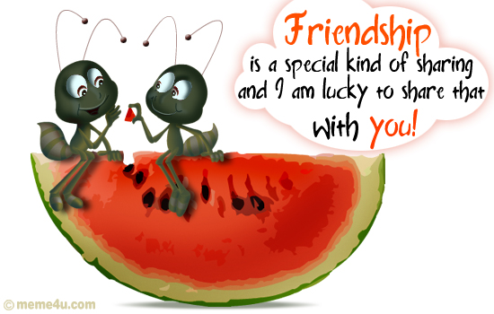 Special Kind Of Sharing… Friendship Day, Friendship Day Cards, Friendship Day Ecards, Friendship ...