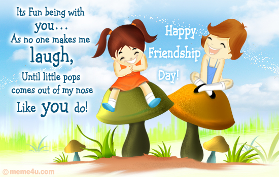 friendship day cards, cute friendship day cards, friendship day ecards