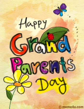 happy grand parents day postcard, happy grand parents day card, happy grand parents day ecard