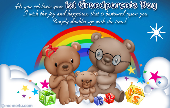 first grandparents day cards, first grandparents day ecards,